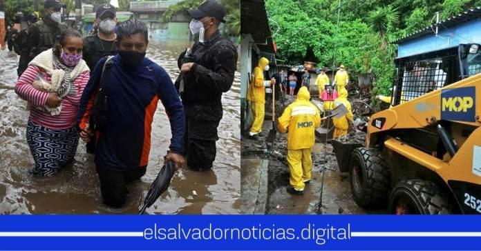 Salvadoreños expresan agradecimiento a Nayib Bukele y al MOP por toda la ayuda que brindan en comunidades afectadas