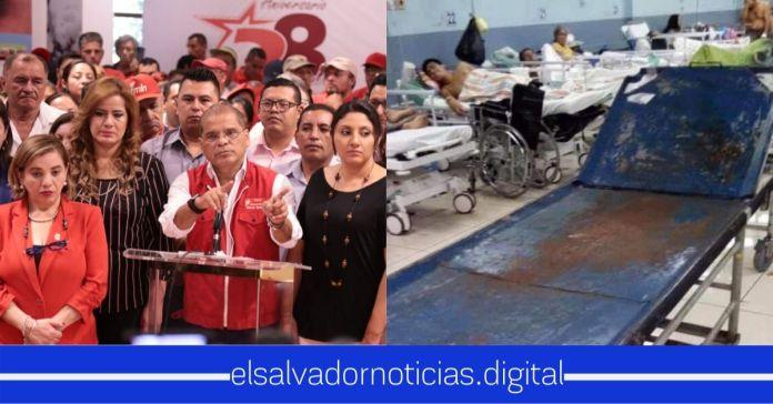 FMLN justifica el robo de los $170 millones que eran para hospitales, afirmando que dejaron un sistema de salud impecable a los salvadoreños