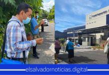 Migueleños elevan oración frente al ISSS para clamar sanidad por los pacientes con COVID-19