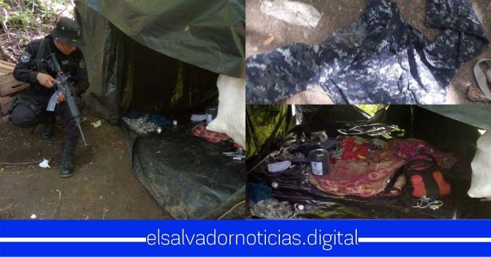 PNC desmantela campamento de grupos terroristas en Cantón Agua Zarca de Cabañas