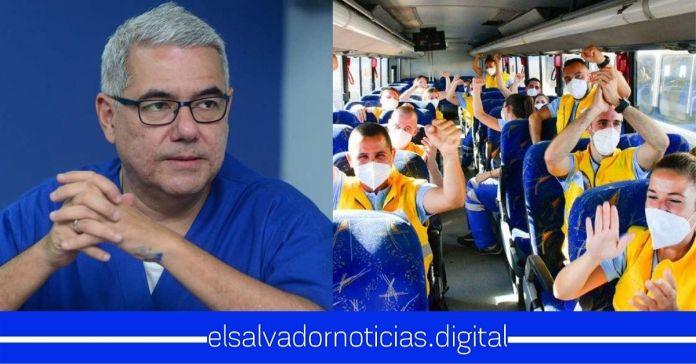 Candidato a diputado por ARENA critica a profesionales de la salud de España que han venido en misión humanitaria para enfrentar la pandemia del COVID-19 en El Salvador