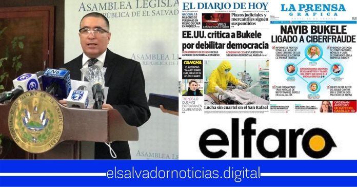 Portillo Cuadra busca crear comisión para defender medios de comunicación corruptos que aprobar cuarentena por el bien de la nación