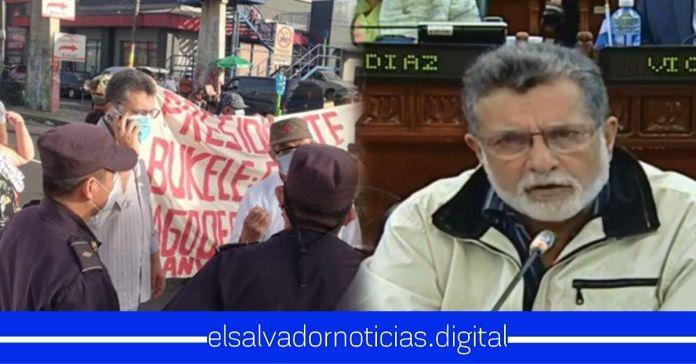 Schafik Hándal protestó junto a los veteranos, pero NEGÓ su voto para pagarles pensión