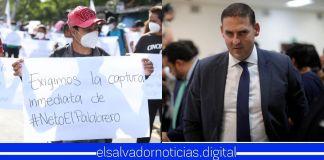 ASTRAM realiza protesta exigiendo la captura de Neto Muyshondt a quien responsabilizan por el asesinato del líder sindical Weder Meléndez