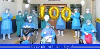 Hospital de Chalchuapa celebra 100 salvadoreños recuperados de COVID-19