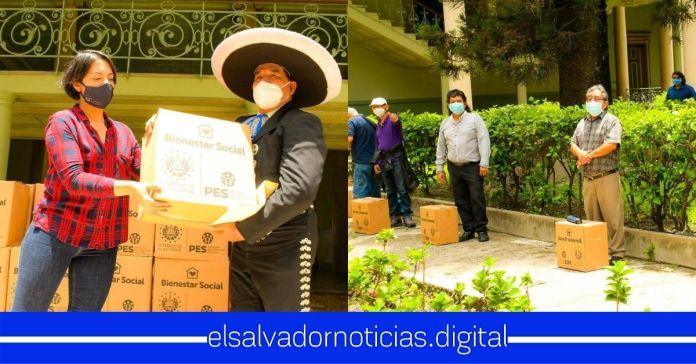 Gobierno entrega alimentos a artistas salvadoreños afectado por la pandemia del Coronavirus