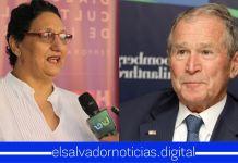 Lorena Peña queda en completo ridículo al decir que George Bush es el Presidente de Estados Unidos