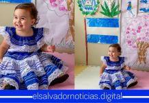 De esta manera la pequeña Layla Bukele continúa celebrando el mes de la independencia patria