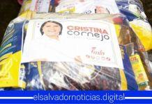 Salvadoreños denuncian a Cristina Cornejo por hacer campaña adelantada a costillas de las necesidades del pueblo