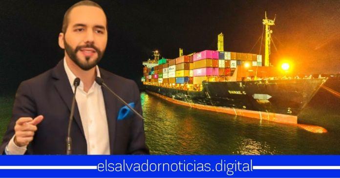Nuevo buque llega a El Salvador cargado de alimentos, para garantizar el segundo paquete solidario