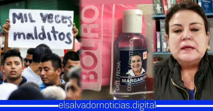 Salvadoreños desprecian alcohol gel de Margarita Escobar, por temor a su dudosa procedencia