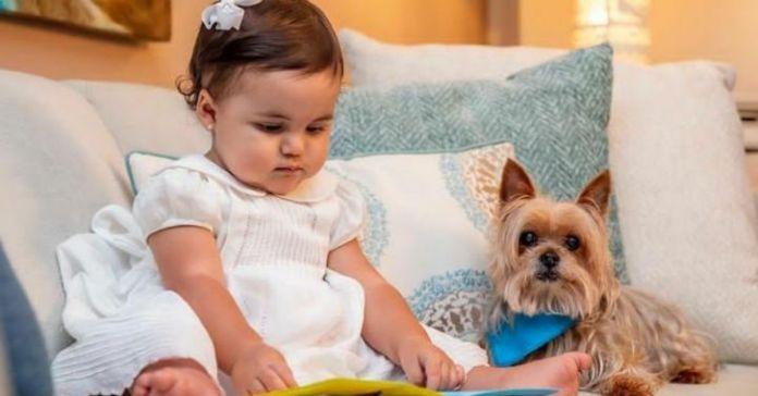 Familia Presidencial inculcan desde pequeña valores y cariño hacia los animales a la pequeña Layla Bukele