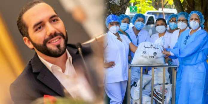 GOES entrega más de 1,000 paquetes alimentarios a todo el personal del Hospital Zacamil que han expuesto su vida para salvar la de otros