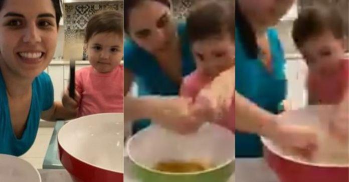 Bella Layla Bukele prepara galletas de navidad junto a la Primera Dama para compartirlas en familia