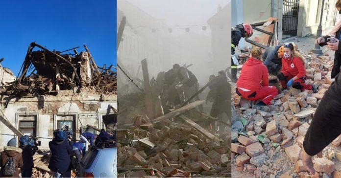 Terremoto de 6.3 sacude a Croacia seguido de réplicas que dejan decenas de muertos y la mitad de la ciudad del epicentro inexistente