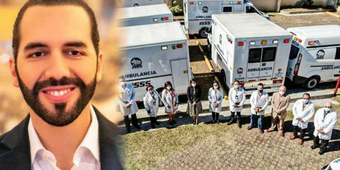 Gobierno de Bukele entrega 12 modernas ambulancias al sistema de salud para seguir brindando atención adecuada a la población salvadoreña