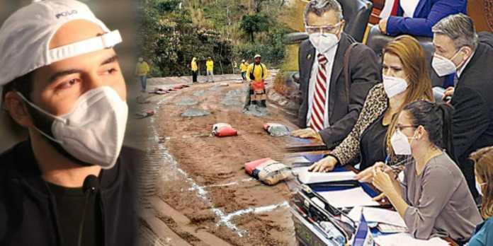 Presidente condena a ARENA y FMLN por tener vías municipales en abandono y ahora exigen FODES pero para sus campañas