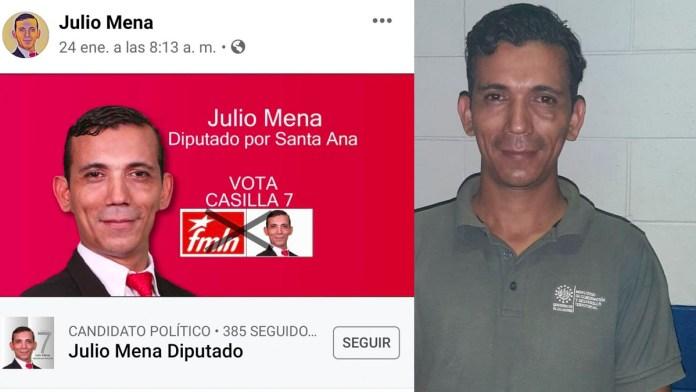 Candidato del FMLN es detenido por volver a violentar a su mujer, luego que la PNC recibiera una llamada anónima de la denuncia