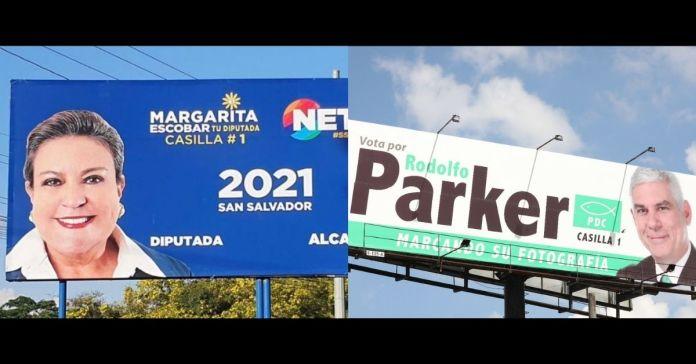 Margarita Escobar y Rodolfo Parker podrían ser demandados por iniciar campaña electoral sin ser inscritos por el TSE