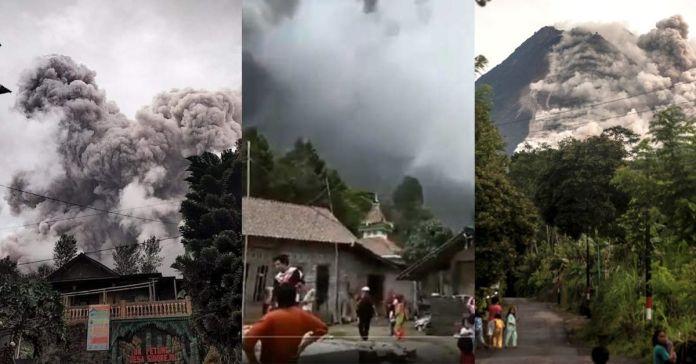 Temible volcán Merapi entra en erupción en Indonesia
