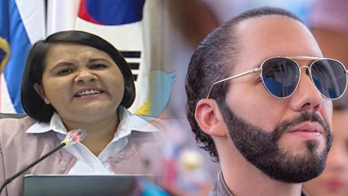 Cristina Cornejo quiere cerrarle la cuenta de Twitter a Nayib Bukele, por decirles sin tapujos la verdad sobre su nefasta corrupción