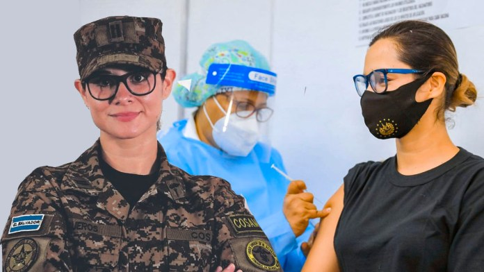 La vacuna es segura, según la Teniente Karla Trigueros, quien además de ser militar es médico y es asesora del Comando de Sanidad Militar