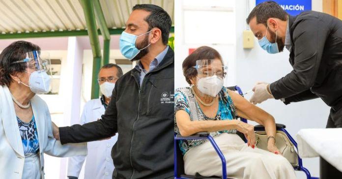 Exministra de Salud del FMLN, María Isabel Rodríguez recibe vacuna contra la COVID-19Exministra de Salud del FMLN, María Isabel Rodríguez recibe vacuna contra la COVID-19