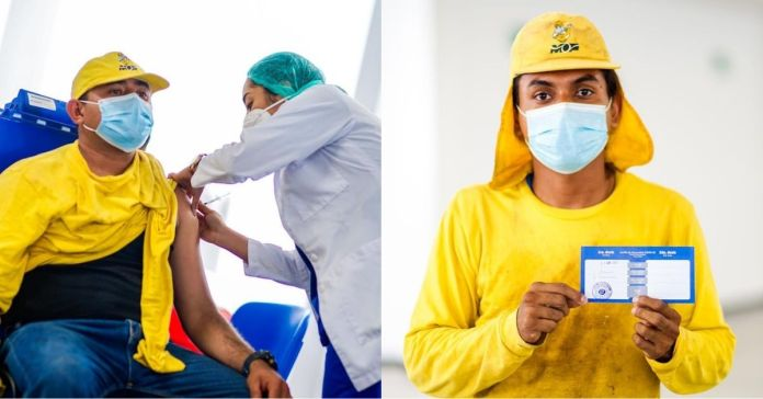 Gobierno inicia vacunación contra el COVID-19 al equipo del Ministerio de Obras Públicas