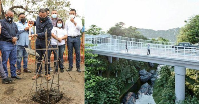 Ministro Romeo coloca primera piedra para la construcción del puente sobre el río Ceniza, entre Izalco y Sonzacate, para mejorar la conectividad, el comercio y turismo en la zona