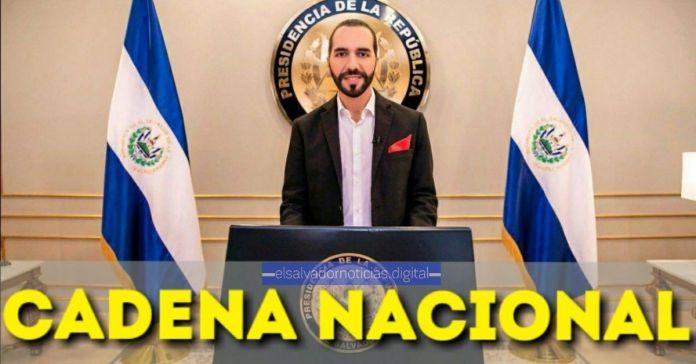 Presidente Bukele invita a los salvadoreños a sintonizar la Cadena Nacional de Radio y Televisión esta noche
