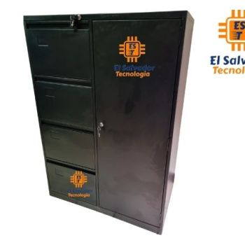 Archivo de Oficina Combinado con Armario y Caja de Seguridad CNT 30-026
