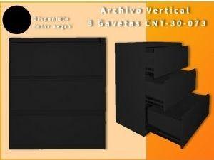 Archivo Horizontal 3 Gavetas CNT-073 Negro