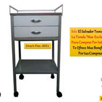 Muebles Hospitalarios Carro de Curacion SmartFlex 0051 El Salvador Tecnologia