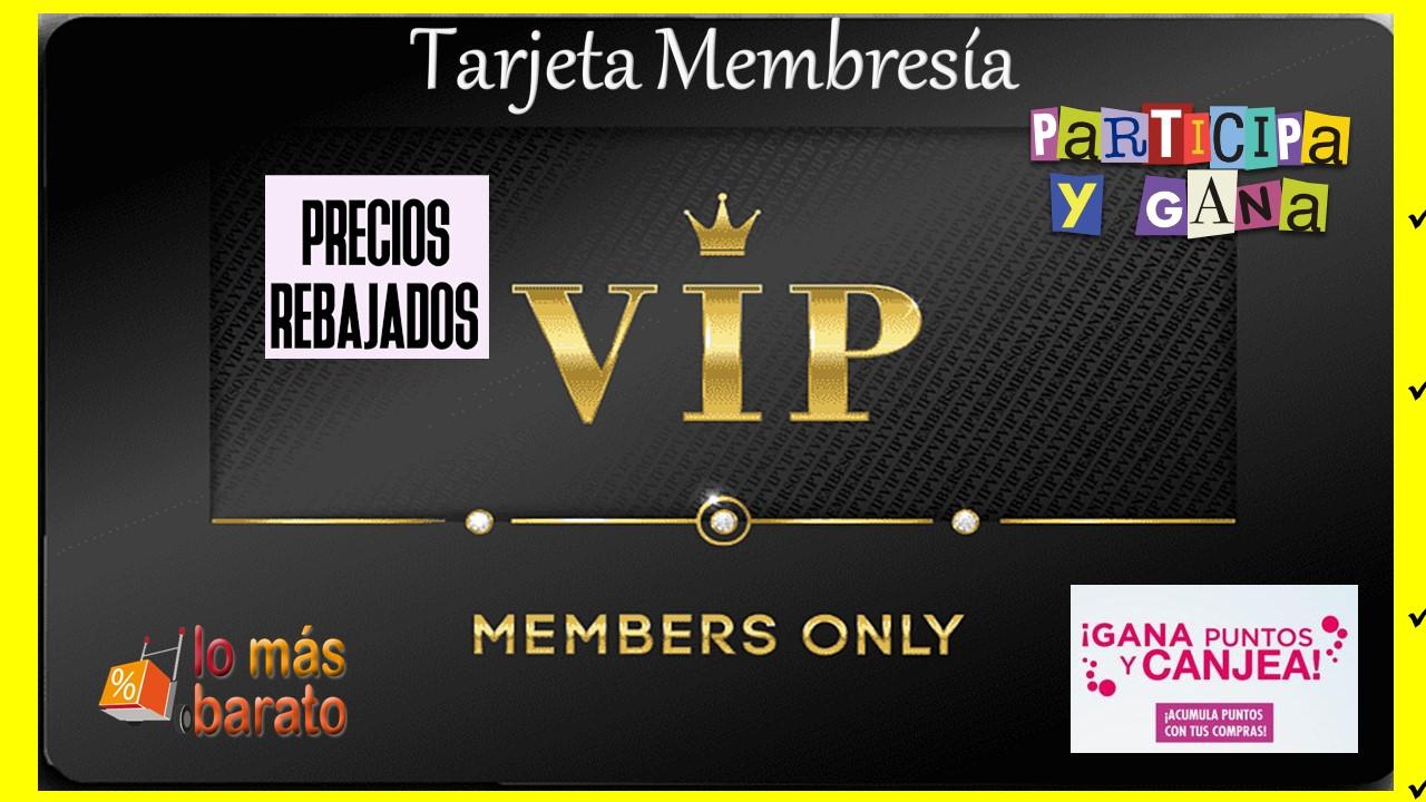 TARJETA DE MEMBRESIA VIP-EL SALVADOR TECNOLOGIA