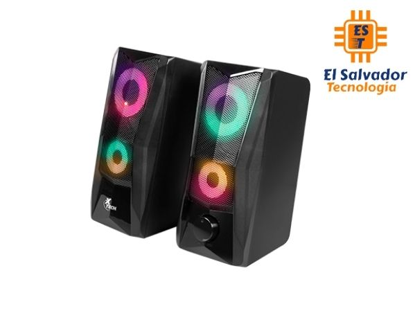 Altavoces estéreo Incendo Xtech de 2.0 canales con luces led - xts-130