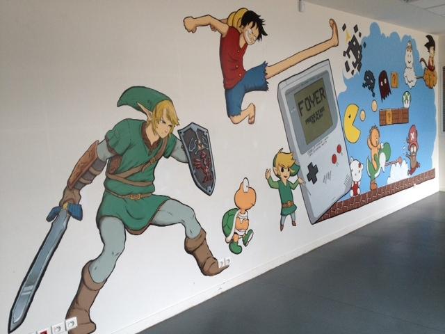 Fresque au foyer des élèves