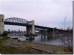 Burrard Bridge from English Bay