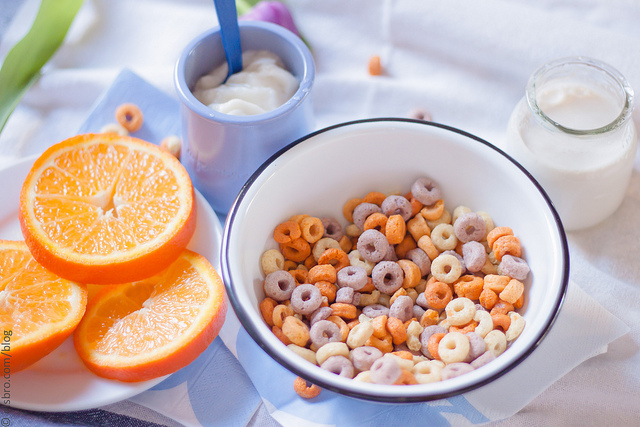 Breakfast - Yogurt and Cereal