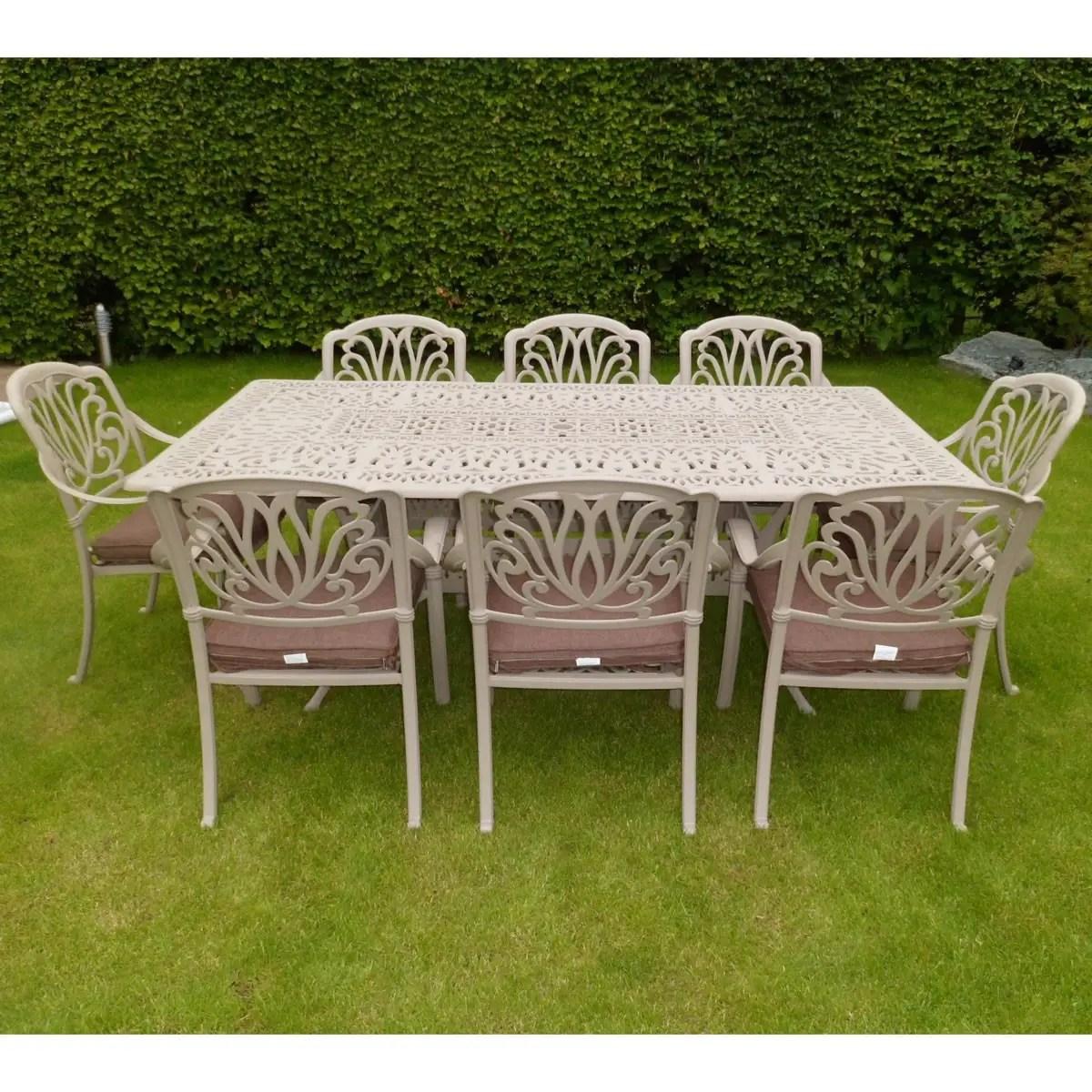 Hartman Amalfi Rect 8 Seat Set Sahara HAMSSET05 Garden Furniture World
