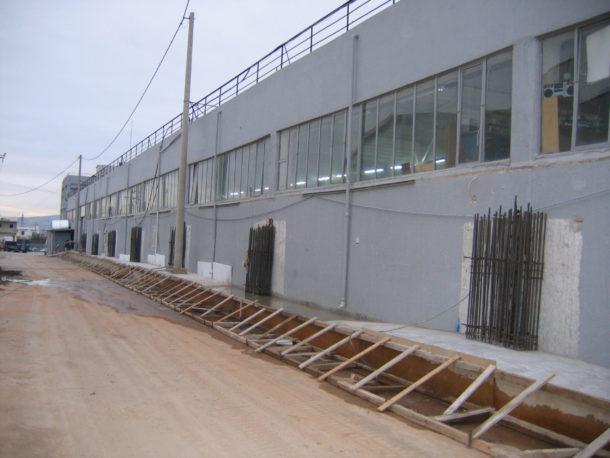 ενισχύσεις κτιρίων ενίσχυση σε βιομηχανικό κτίριο