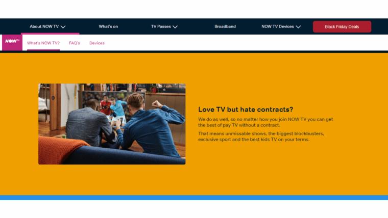 NOW TV Website + App