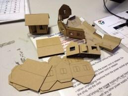 Laser cut houses
