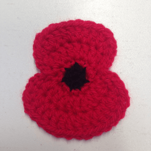 Crochet Remembrance Poppy