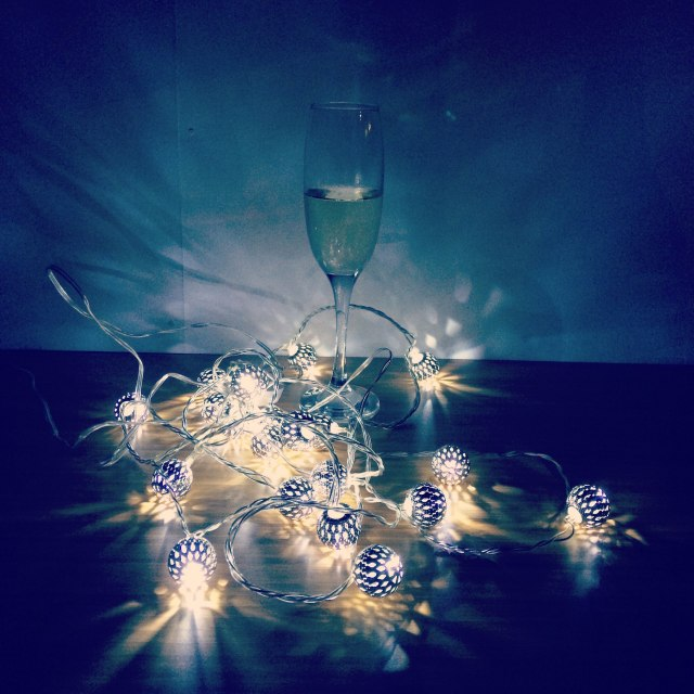 Prosecco and fairy lights