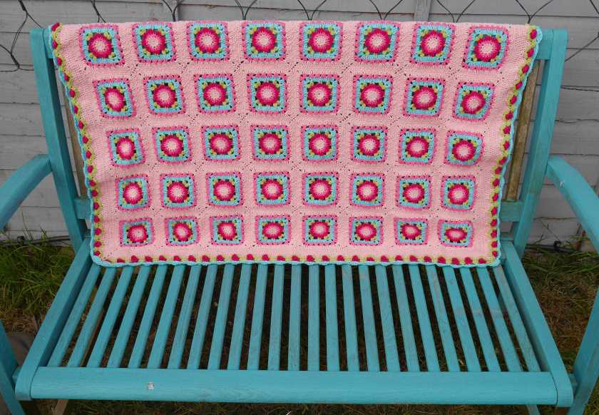 Lydia Blanket outside