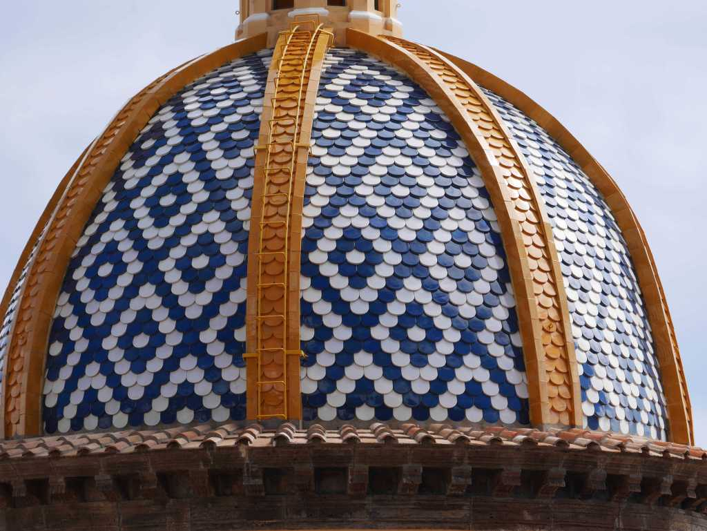 Close up of Praiano church roof, Amalfi Coast, Italy