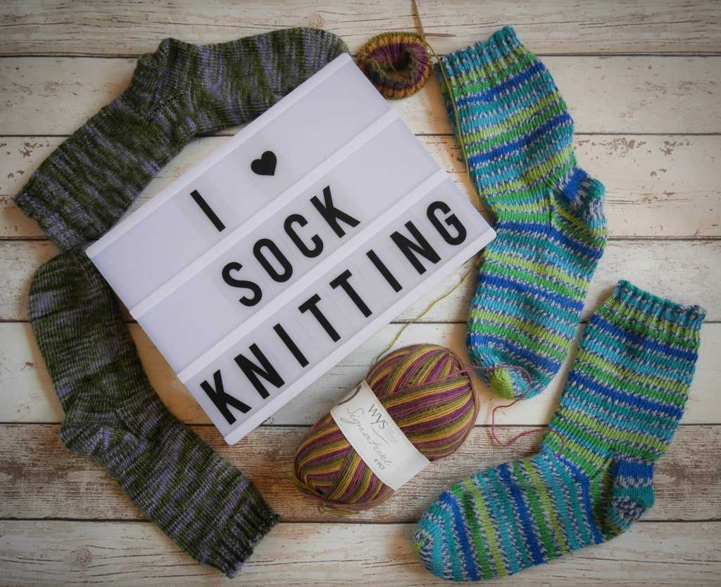 Sock knitting