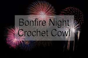 80s Bonfire Night Crochet Cowl