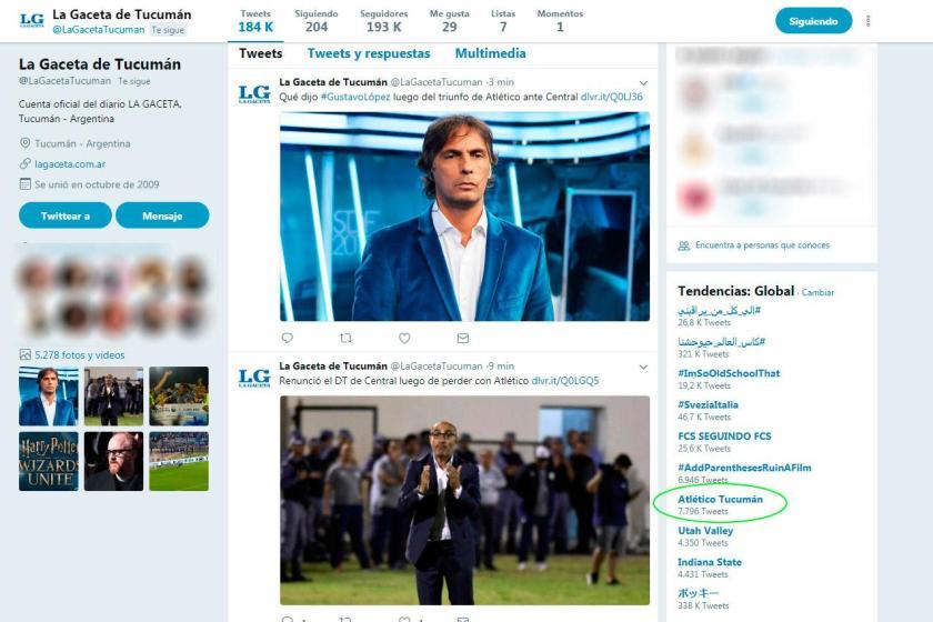 """ATLETICO TUCUMAN""  en Twitter es tendencia mundial"