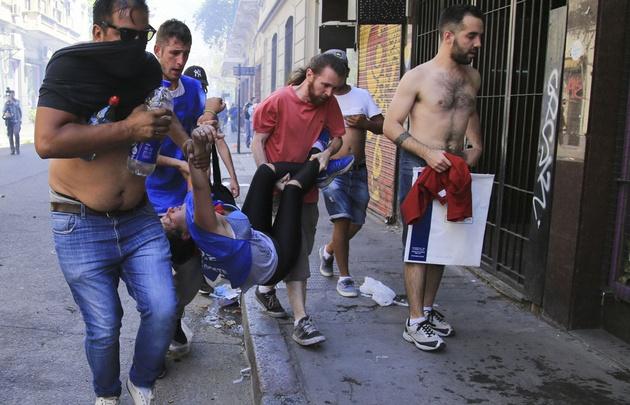 Imagenes de la represión en el Congreso, hay numerosos heridos